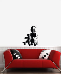 "WALL - Kill People Baby - Wall Vinyl Decal (16""w x 22""h) (BLACK)"