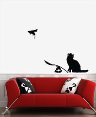 "WALL - The Ratapult - Wall Vinyl Decal (30""w x 22""h) (BLACK)"