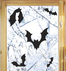 BATS! - Halloween - Spooky Halloween Decoration Vinyl Decal Stickers - Copyright © YYDCo. (BLACK)