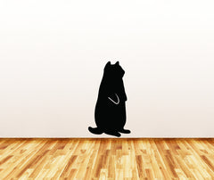 WALL - Fat Cat Standing - Wall Vinyl Decal - © 2014 YYDC (Size and Color Choices)