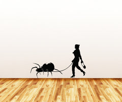 "WALL - Black Widow Spider Walker - Wall Vinyl Decal Sticker - ©YYDC (36""w x 22""h) (BLACK)"