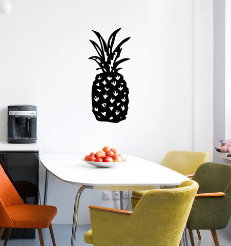 WALL - Tropical Pineapple - Vinyl Decal for Walls | Home Decor YYDC  (Size and Color Choices)