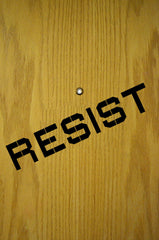 "FLAT - RESIST - Vinyl Wall Decal Sticker - © YYDC (LARGE 22""w x 4""h)(COLOR CHOICES)"