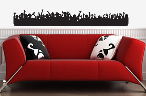 "WALL - Rock and Roll Star - Wall Vinyl Decal (40""w x 6""h) (BLACK)"