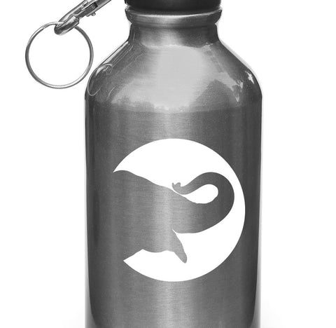 "WB - Elephant Silhouette - Vinyl Decal for Water Bottle | Flask | Cup | Sporting Equipment - Copyright 2014 © YYDC (3""diam.)(Color Choices)"