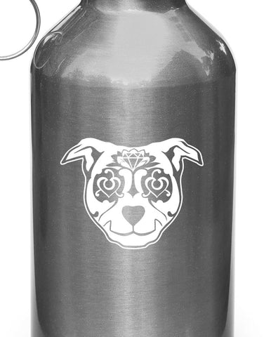 WB - Sugar Skull Dog - Day of the Dead - Día de los Muertos - Water Bottle | Sports Gear Vinyl Decal - 2016 YYDC (Color Choices)