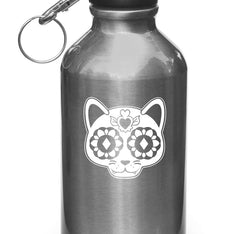 WB - Sugar Skull Cat - Day of the Dead - Día de los Muertos - Water Bottle | Sports Gear Vinyl Decal -/ 2016 YYDC (Color Choices)