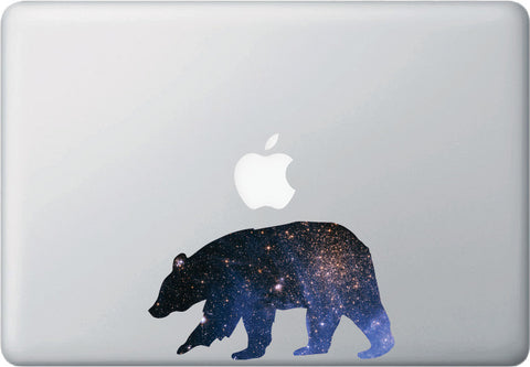 CLR:MB - Cosmic Bear -D1- Galaxy - Spirit Animal - Vinyl Decal for Laptop | Macbook | Indoor Use © YYDC. (Size Variations Available)
