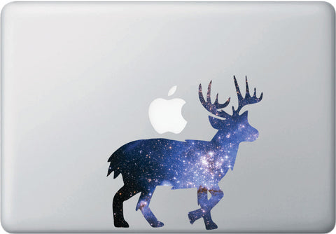 CLR:MB - Cosmic Deer - Galaxy - Spirit Animal - Vinyl Decal for Laptop | Macbook | Indoor Use © YYDC. (Size Variations Available)
