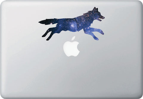 CLR:MB - Cosmic Dog Leaping - Galaxy - Spirit Animal - Vinyl Decal for Laptop | Macbook | Indoor Use © YYDC. (Size Variations Available)