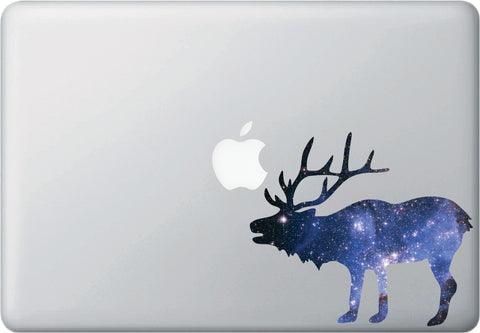CLR:MB - Cosmic Elk - Galaxy - Spirit Animal - Vinyl Decal for Laptop | Macbook | Indoor Use © YYDC. (Size Variations Available)