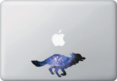 CLR:MB - Cosmic Fox - Galaxy - Spirit Animal - Vinyl Decal for Laptop | Macbook | Indoor Use © YYDC. (Size Variations Available)