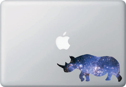 CLR:MB - Cosmic Rhino - Rhinoceros - Galaxy Guide Spirit Animal - Vinyl Macbook Laptop Decal - Copyright © YYDC (SIZE CHOICES)