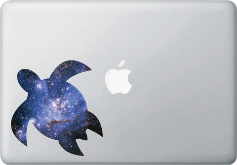 CLR:MB - Cosmic Sea Turtle - Galaxy - Spirit Animal - Vinyl Laptop Decal © YYDC. (Size Variations Available)