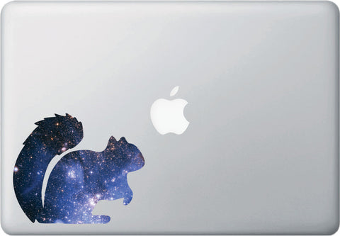 CLR:MB - Cosmic Squirrel - Galaxy - Spirit Animal - Vinyl Decal for Laptop | Macbook | Indoor Use © YYDC. (Size Variations Available)