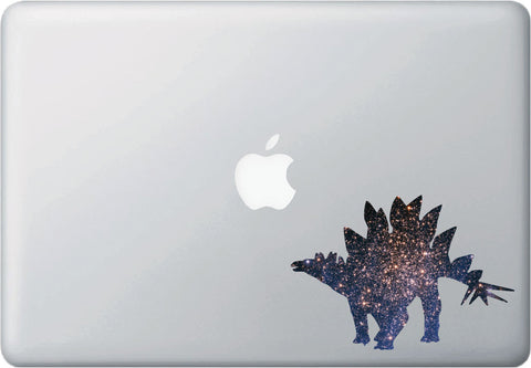 "CLR:MB - Cosmic Stegosaurus - Galaxy Dinosaur Decal for Laptops and Macbooks ©YYDC (5.5""w x 4""h)"
