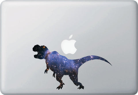 "CLR:MB - Cosmic T-Rex - Galaxy Tyrannosaurus Dinosaur Decal for Laptops and Macbooks ©YYDC (7.5""w x 4.3""h)"