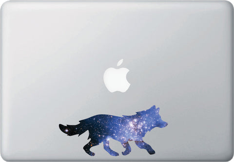 CLR:MB - Cosmic Wolf - Galaxy - Spirit Animal - Vinyl Decal for Laptop | Macbook | Indoor Use © YYDC. (Size Variations Available)