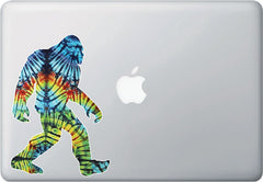CLR:MB - Rainbow Tie Dye Sasquatch - Bigfoot - Vinyl Macbook Laptop Trackpad Decal Sticker © YYDC (Size Variations Available)