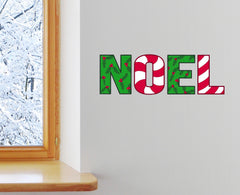 CLR - Noel Christmas Text - Multicolor Vinyl Decal © YYDC (Size & Background Choices)