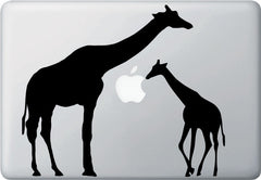 "MB - Giraffe Mom & Baby - Macbook Laptop Vinyl Decal  (9.5""w x 8.5""h) (Color Choices)"