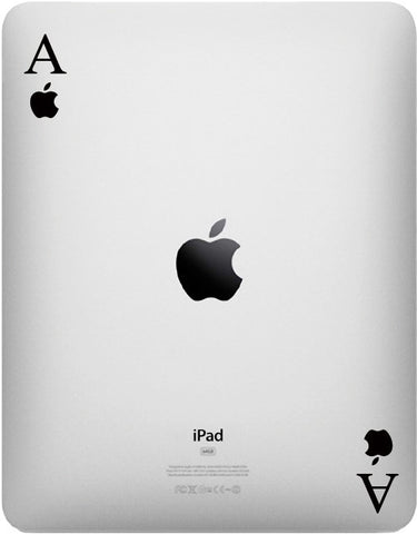IPAD - Ace of Apples - iPad or Tablet Vinyl Decal Sticker - (Color Choices)