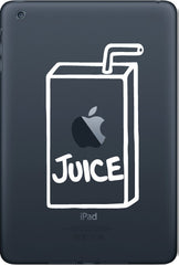 "IPAD-M - Apple Juice Box - iPad MINI or Tablet Vinyl Decal (2.75""w x 4.75""h)(Color Choices)"