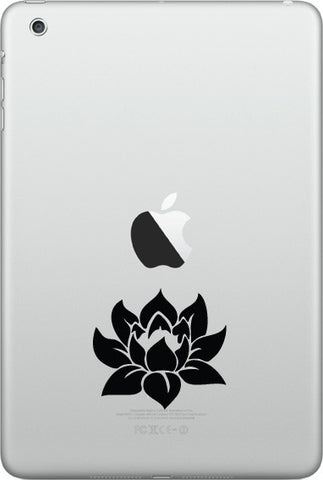 "IPAD-M - Lotus Flower D1 - iPAD MINI Vinyl Decal - ©YYDC (2""w x 2""h) (Color Choices)"