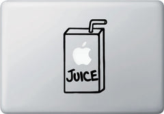 "MB - Apple Juice Box Graphic - Macbook Laptop Vinyl Decal (3.5""w x 5.75""h) (Color Choices)"