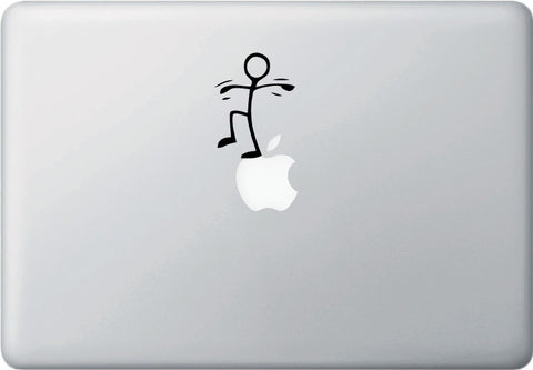 "MB - BALANCE - Macbook Laptop Vinyl Decal Sticker - © YYDC (2""w x 2.5""h) (BLACK)"