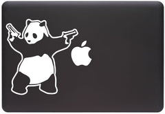 "MB - Shooting Panda - Macbook or Laptop Vinyl Decal (5.75""w x 6""h) (Color Choices)"