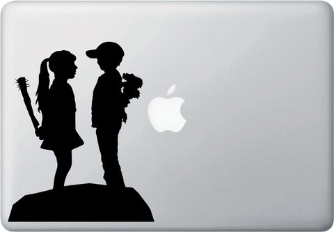 "MB - Boy Meets Girl - Macbook or Laptop Vinyl Decal Sticker - (5.5""w x 7""h) (BLACK)"