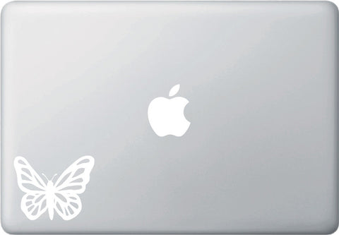 "MB - Butterfly - D1 - Macbook or Laptop Vinyl Decal © YYDC (3""w x 2.5""h) (Color Choices)"