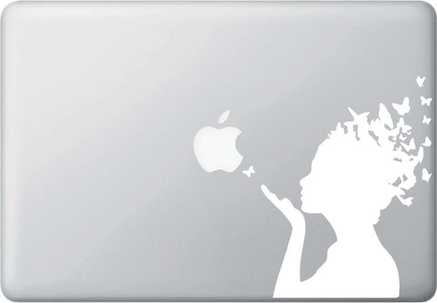 "MB - Butterfly Girl - Macbook or Laptop Decal (5.5""w x 6.5""h) (Color Choices)"