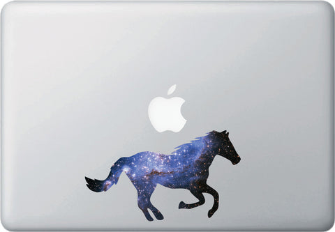 CLR:MB - Cosmic Horse - Galaxy - Spirit Animal - Vinyl Decal for Laptop | Macbook | Indoor Use © YYDC. (Size Variations Available)