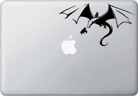 "MB - Dragon Rider - D1 - Macbook or Laptop Decal © YYDC (7""w x 4""h) (Color Choices)"