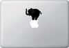 "MB - Elephant Balancing Act - Macbook or Laptop Decal - © (3.5""w x 3""h) (Color Choices)"