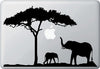 "MB - Elephant Mom and Baby - D2 - Macbook Laptop Decal Sticker (12.5""w x 8""h) (Color Choices)"