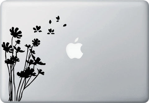 "MB - Flowers in the Wind - Macbook or Laptop Vinyl Decal Sticker (5.5""w x 7""h) (Color Choices)"
