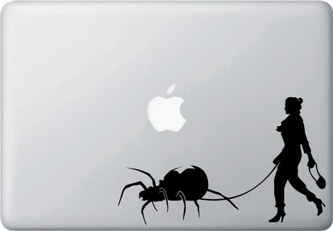 "MB - Black Widow Spider Walker - Laptop Vinyl Decal Sticker - ©YYDC (8""w x 5""h) (BLACK)"
