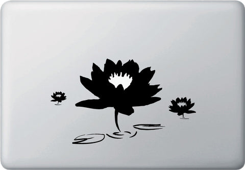 "MB - The Lotus Pond - Macbook Laptop Decal (7.5""w x 4.5""h) (Color Choices)"