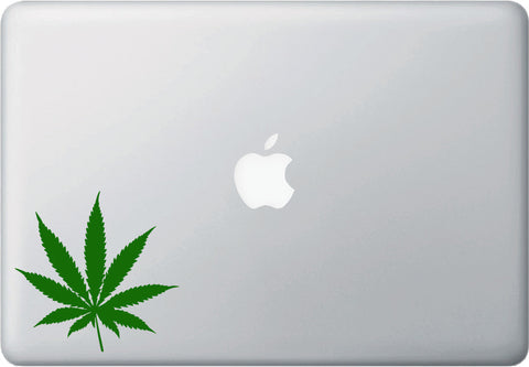 MB - Cannabis Pot Leaf - Vinyl Decal Sticker for Macbook| Laptop | Trackpad | Tablet  - Yadda-Yadda Design Co. (Size & Color Choices)