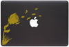 "MB - Rose in the Wind - Macbook or Laptop Vinyl Decal (7.5""w x 7""h) (Color Choices)"