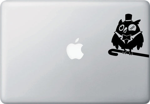 "MB - The Superb Owl - D1 - Macbook or Laptop Vinyl Decal - ©YYDC (3.5""w x 3.75""h) (Color Choices)"
