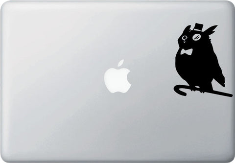 "MB - The Superb Owl - D2 - Macbook or Laptop Vinyl Decal - ©YYDC (3.25""w x 4""h) (Color Choices)"