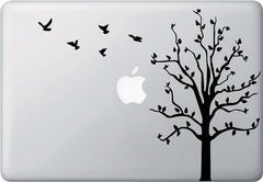 "MB - Tree Birds - Macbook or Laptop Vinyl Decal (11.5""w x 8.5""h) (Color Choices)"