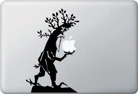 "MB - Tree Ent - Macbook or Laptop Decal - (5""w x 7.75""h) (BLACK)"
