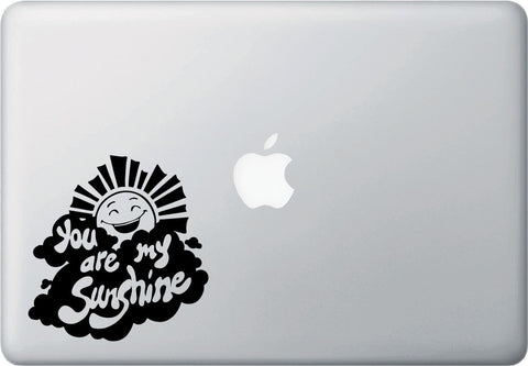 "MB - You Are My Sunshine - D1 - Laptop Macbook Vinyl Decal - ©YYDC (4.5""w x 4.5""h) (Color Choices)"