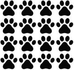 PATT - Large Dog Paw Prints - Vinyl Decals for Walls and Indoor Use - (Color Choices) (Pack of 16 or 48)