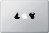 "MB - Pear Apple Strawberry - Jackpot - Graphic Vinyl Decal Sticker (5.5""w x 2""h) (Color Choices)"